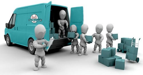 Form Web Design Colored Van Moving Boxes - Website Migration