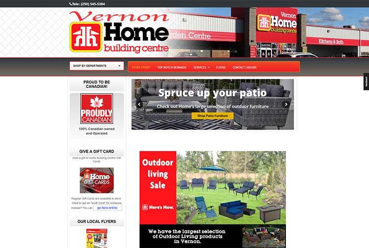 Home Building Centre Vernon Website Screenshot