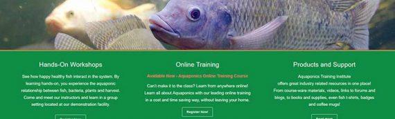Aquaponics Training Institute Website